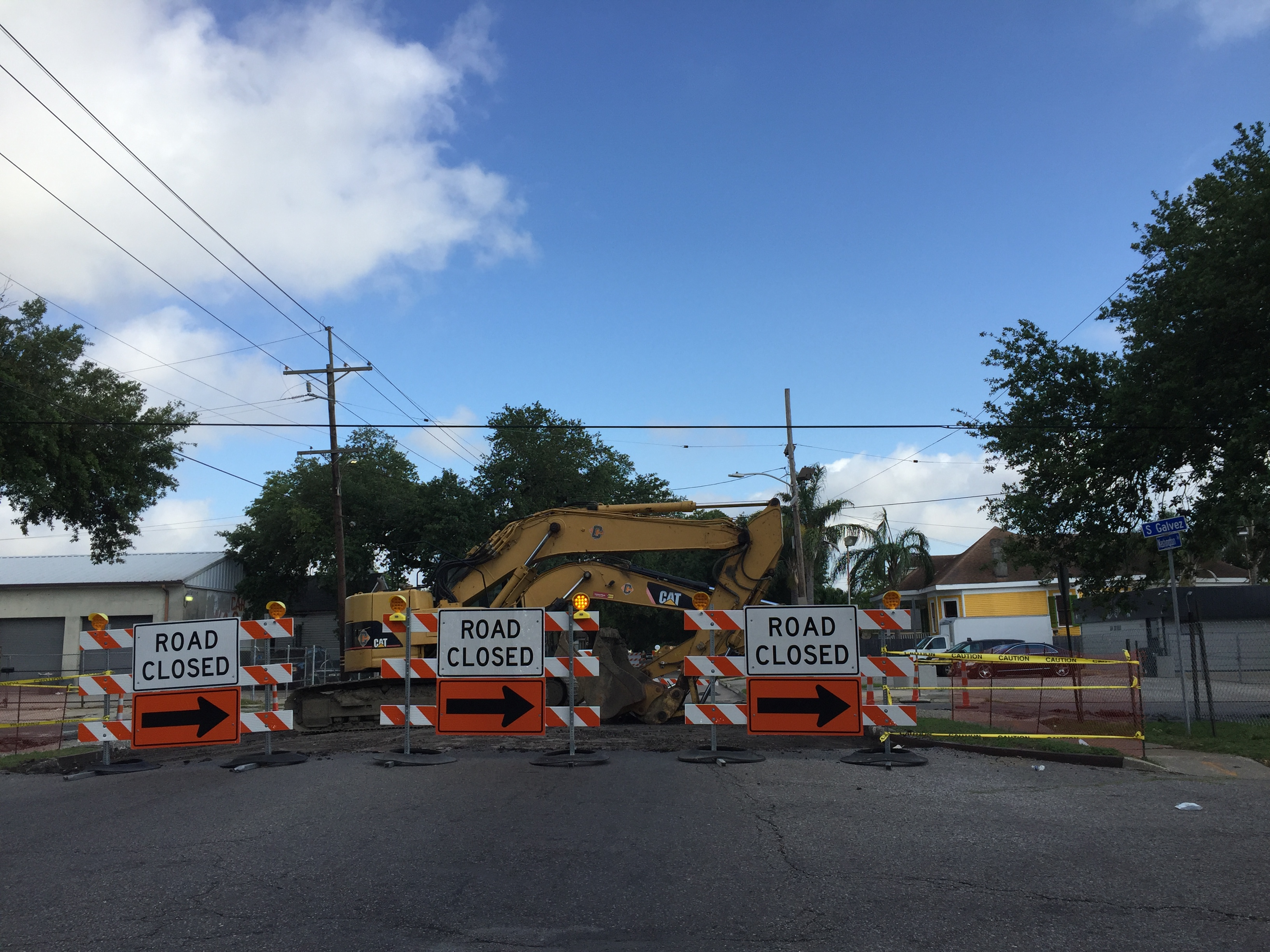 Reconstruction of Central City thoroughfare, S. Galvez St., underway