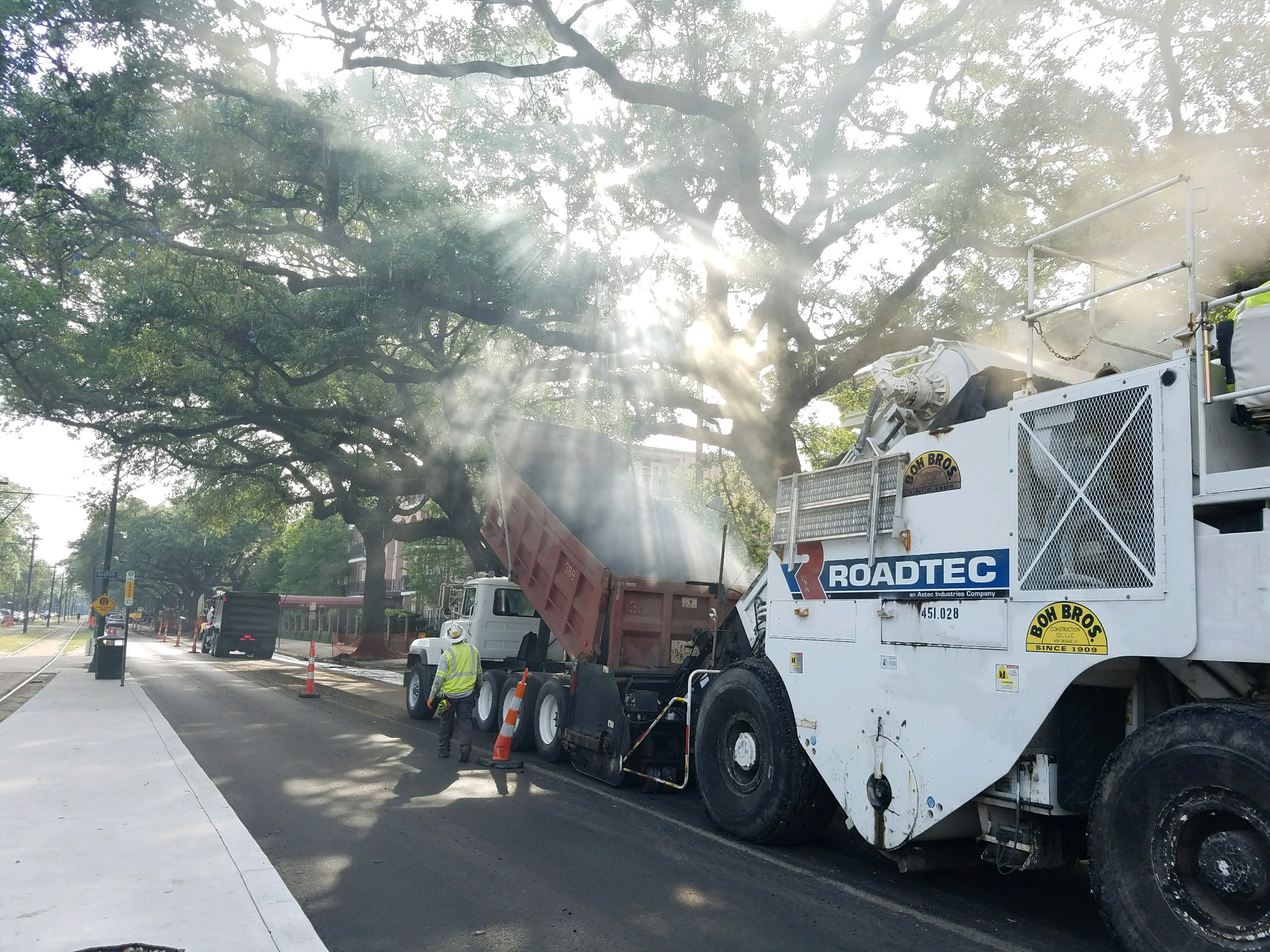 Large Portion of Repaving Finished on St. Charles Ave. Project