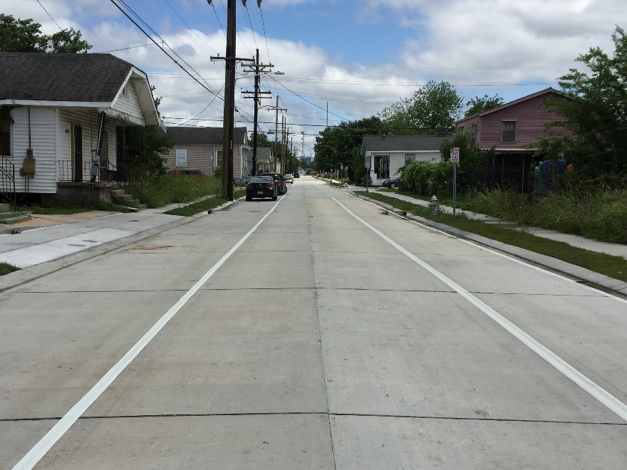 Completed N. Galvez St. reconstruction project brings citywide bikeway total to 120 miles