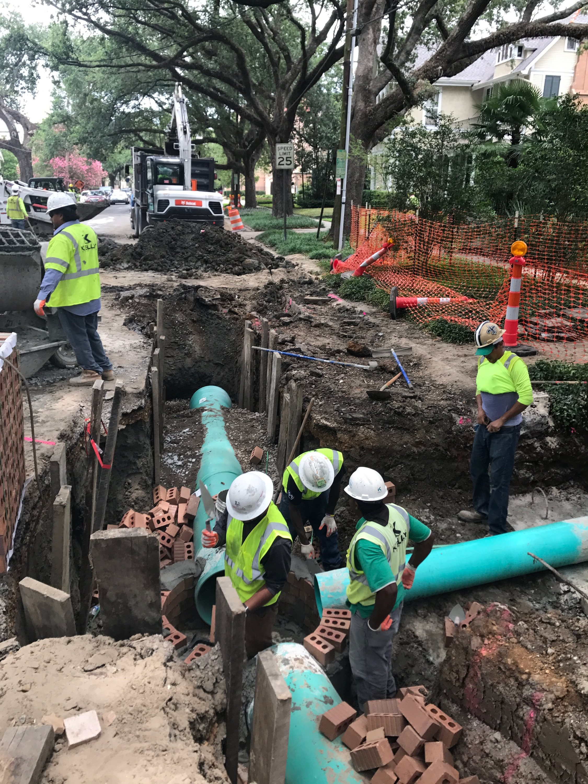 Henry Clay drainage improvement project underway