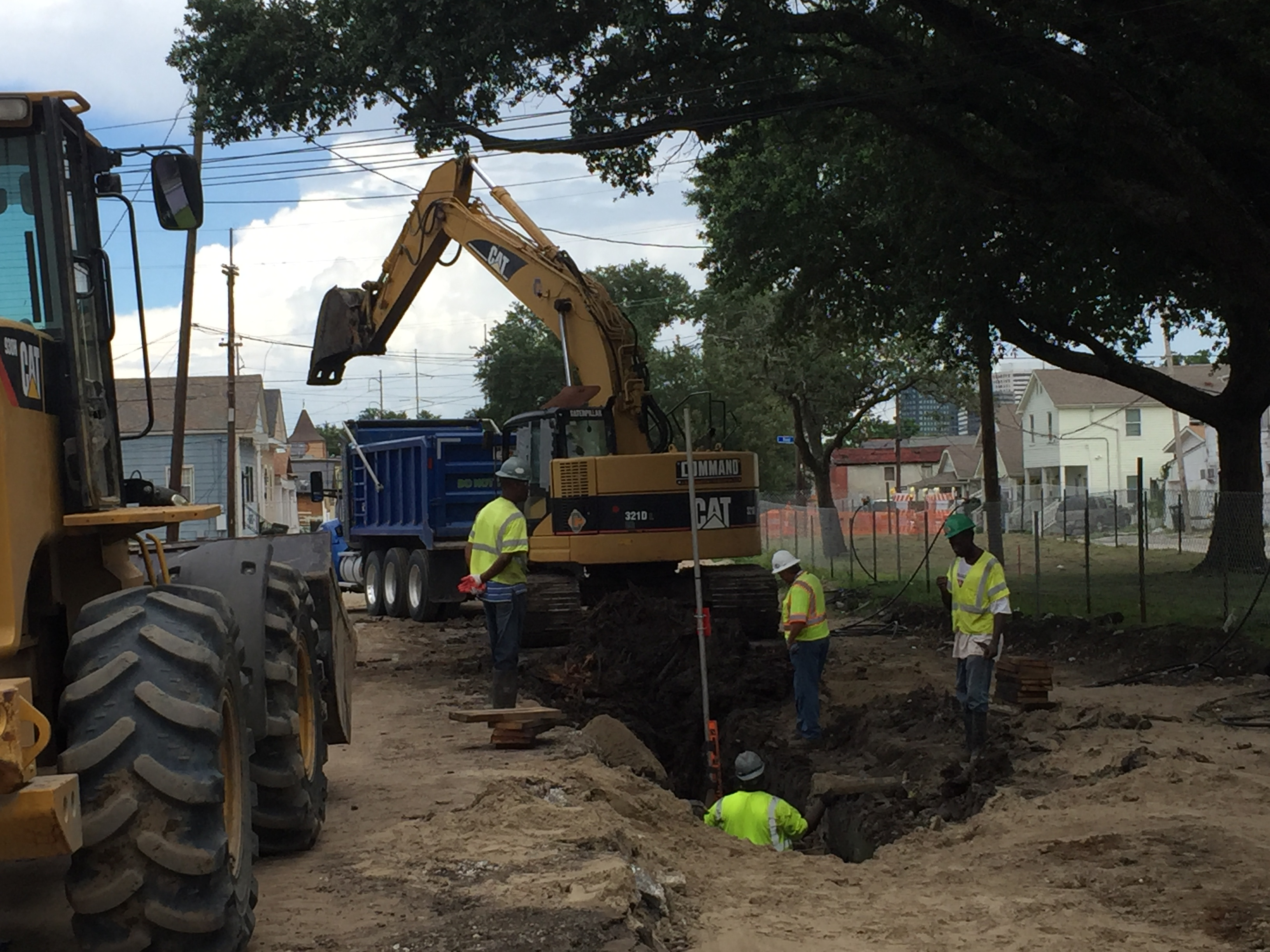 S. Galvez St. reconstruction project progressing on schedule